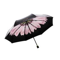 粉雏菊折叠防紫外线upf50晴雨两用伞JM-012438-02