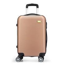 爱登堡Edenbo20寸商务旅行拉杆箱登机箱八轮加固万向轮密码锁箱F968(金色银色)颜色随机
