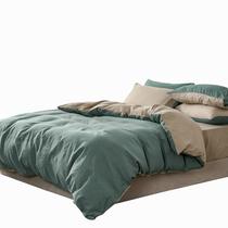宜恋床上用品纯色四件套床单被套奶茶绿QS