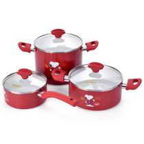 史努比奶锅汤锅煮锅锅具套装3件套SP-N291