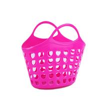 悦洁浴室收纳筐塑料篮洗澡手提筐洗漱篮厨房储物框颜色随机