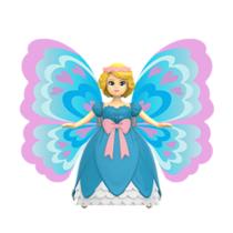 灵动创想蝴蝶美少女变形感应玩具男孩女孩儿童玩具3401