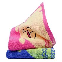 洁丽雅(Grace)小毛巾家纺2条装儿童毛巾纯棉小熊印花童巾8325