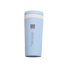 泽熙小麦秸秆双层随手杯创意便携随手杯水杯带盖学生杯子T5259