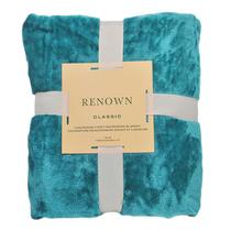 悦洁毛毯盖毯毛巾被单人小毯子午睡毯空调小被湖蓝色-150X200CM