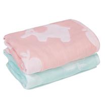 被窝窝纯棉方巾毛巾两条装BW-1108