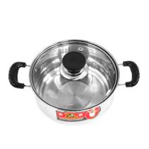 【特惠】振顺16CM不锈钢复底汤锅柄弧型锅