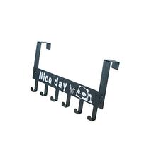 林格豪碳钢门背式6连挂钩创意卡通门后挂钩LGH1909