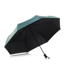 菲驰三折黑胶晴雨伞VS001