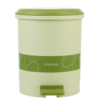 茶花24CM脚踏圆形卫生桶15021K