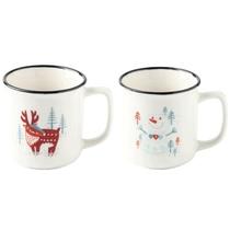 EVERGREEN/爱屋格林圣诞陶瓷mini杯-2个/组(随机发货)