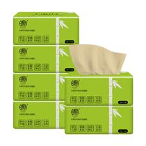 日相月竹浆本色抽纸巾3层100抽家用卫生纸6包RXY0387-6