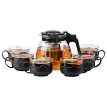 紫丁香(Lilac)茶壶套装耐热玻璃茶具过滤泡茶壶花茶壶水壶茶壶七件套S348