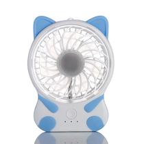 nanum充电卡通环保可爱猫咪迷你小电风扇