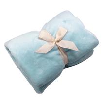 悦洁毛毯盖毯毛巾被单人小毯子午睡毯空调小被浅蓝色70X100CM
