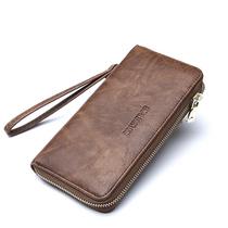 英菲丹顿商务休闲手拿长款钱包拉链款皮夹YF-170