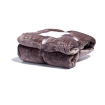 宜恋加厚毛毯柔软亲肤四季毛毯法兰绒毛毯单双人午休毯棕色150x200cm