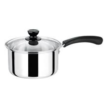 双英单柄奶锅不锈钢韩式小汤锅泡面锅多用途锅