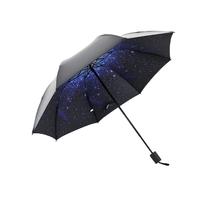 罗得8骨经典雨伞印花伞晴雨伞夜景星空