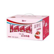 蒙牛真果粒牛奶饮品草莓果粒250g×12盒