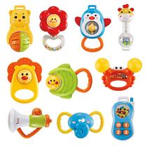 群兴QUNXING新生婴幼儿摇铃10件套91098宝宝早教益智玩具