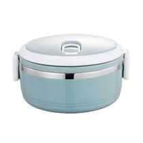 双英方扣保温饭盒不锈钢便当盒学生餐盒颜色随机单层700ml