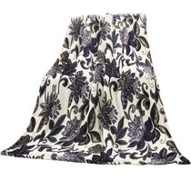 禧尔法莱绒亲肤毯午睡盖毯紫荆花180x200cm