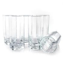 帕莎帕琦Pasabahce欧洲进口290ML平底玻璃水杯6只礼盒装42942