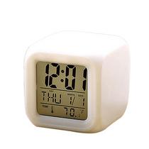疯子数码LED日期温度夜光电子钟方形闹钟511