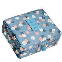 悦洁旅行收纳包洗漱包差旅包衣物收纳整理袋防水收纳袋化妆折叠包蓝色