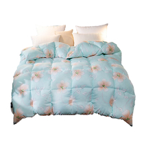 细工坊家纺数码印花时尚羽丝绒冬被被芯双人羽丝绒被200x230颜色随机