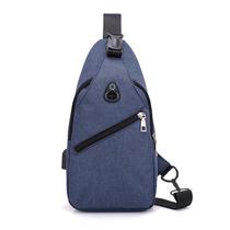 星迪威克胸包时尚休闲户外多功能带USB充电斜挎包单肩包小背包0112(颜色随机)