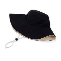 艾可娃女士遮阳帽防晒双面渔夫帽子