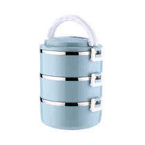 宝富利不锈钢三层保温盒BFL-1102-3
