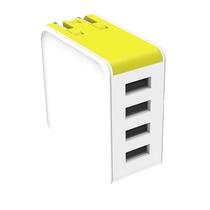 洛克(ROCK)方糖系列四口快充旅行充电器6950290604478(颜色随机发货)
