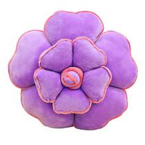 禧尔玫瑰花朵异型靠垫抱枕沙发靠背紫色40x40cm