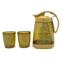 星橙紫金壶杯套装一水壶两水杯HTSP007