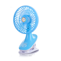 康铭迷你充电风扇夹子风扇USB充电可移动电源充电学生风扇KM-689蓝色