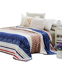 细工坊柔软舒适透气空调毯时尚保暖法兰绒毛毯盖毯午睡毯英伦风尚1.5米床适用