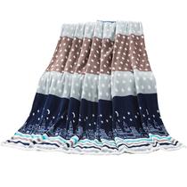 【暖冬】禧尔法莱绒亲肤毯午睡盖毯星月彩条180x200cm