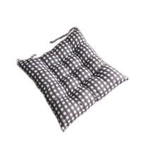 罗缦迪诗简约格子坐垫椅垫一只装黑格子