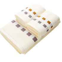 孚日洁玉多臂缎档浴巾毛巾组合DB-003F-1