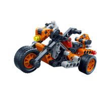 邦宝儿童益智拼装积木车儿童拼装玩具高科回力车小汽车赛车模型6961