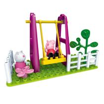 邦宝正版小猪佩奇邦宝益智大颗粒积木儿童玩具游乐场荡秋千6030