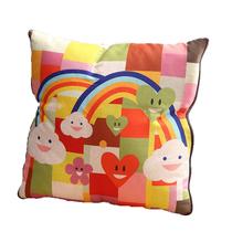 【女生节】寐の魅水洗棉数码印花抱枕被彩色心情