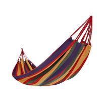 顿巴纵队双人加厚帆布吊床户外野营室内休闲秋千送绑绳收纳袋花色随机