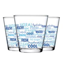 帕莎帕琦Pasabahce欧洲进口城市印花250ML玻璃水杯3只礼盒装43824