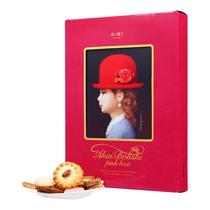 日本进口红帽子粉色什锦饼干礼盒330g