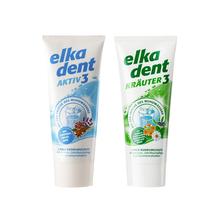 德国进口艾尔丹植物草本精华牙膏75ml+炫极3代固齿牙膏75ml