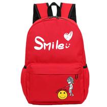 形象派双肩背包学生书包背包时尚休闲红色